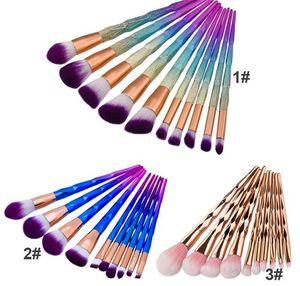 Directo de fábrica ¡DHL libera! Hiqh Quality 10pcs Diamond Makeup Brush Pinceles de maquillaje profesional Moda cosmética BB Cream Brush set