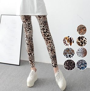 New Leopard Printed Leggings Fashion Casual Elasticity Pants Sexy Women Slim Leggins