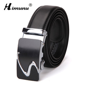 [HIMUNU] cintos de moda enuine Homem de couro cinto de alta qualidade Men Automatic Buckle negócios de jeans dos homens cinto