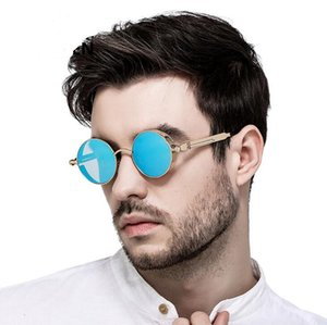 빈티지 레트로 편광 된 Steampunk 선글라스 패션 라운드 미러 안경 빈티지 방패 안경 선글라스 Steampunk 선글라스 10 쌍