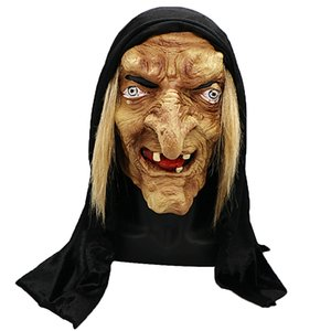 Halloween Mask Long Nose Horror Latex Witch Mask Festival Costume Party Tricky Cosplay Prop Spedizione gratuita