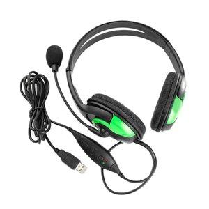 Freeshipping Sıcak Yeni Kablolu Stereo Kulaklık Kulaklık Kulaklık Mikrofon Sony PS3 PS 3 Oyun PC Sohbet mikrofon ile