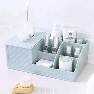 Creative Plastic Storage Boxes Multi-Function Home Living Room Bedroom Desktop Sundries Storage Boxes Office Paper Towel Racks