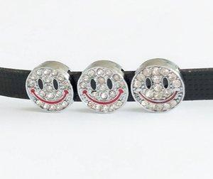 10PCs 8MM completa strass Sorriso Viso diapositive fascini Lettere fai da te accessori Fit Cinture 8 millimetri collare Bracciali
