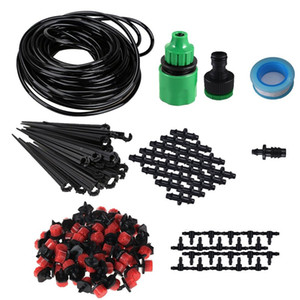 25m Micro-sprinklers Spray Water Cooling Moisturizer Water Irrigation Automatic watering Kit Set Drip Irrigation Garden Watering