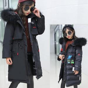 -30 градусов зимняя детская пуховик-куртка 2018 новый теплый двухсторонний зимний зимний комбинезон для детей, для девочек и девочек 10 12 лет
