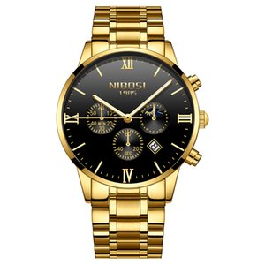 NIBOSI Business Casual Mens Watches Top  Waterproof Chronograph Watch For Men Luminous Date Analogue Watch Relogio
