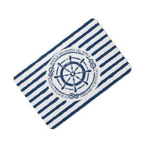 Classical Stripe Marine Stripe Pillows Mediterranean Navy Blue Anchor Ship Helm Floor Mat Compass for Home Almofadas 40X60CM