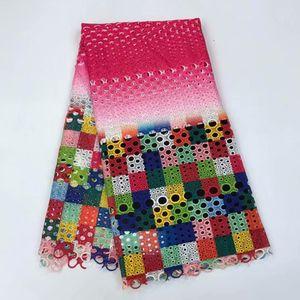 Livraison gratuite! Fushin Rose de haute qualité guipure dentelle / tissu de dentelle nigérienne / tissu de dentelle africaine soluble dans l'eau pour le mariage LJ810-825