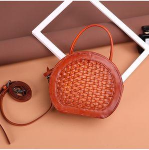 Натуральная кожа женская сумка новая мода леди одно плечо сумка растительного дубления кожа ретро сумка косой сумка