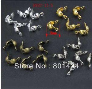 100pcs 87-17 Sterling Solid Brass Clamshells Nœuds Couvertures Trouver des résultats de bijoux fin perles