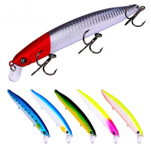 6 Pcs lot Poper Minnow Fishing Lure Fishing Tackle Minnow Popper Poper Bait Hard Plastic Pencil False Bait 6# Hook Crankbaits