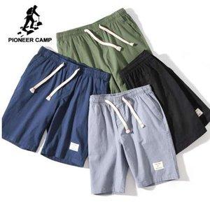 Pioneer Camp katı gündelik şort erkekler giyim basit yaz pamuk şort erkek kaliteli streç bermuda ADK803145