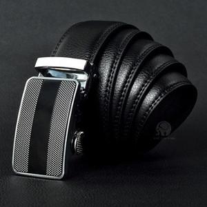 Meilleure qualité designer de marque de mode mode hommes affaires ceinture ceintures boucle automatique ceintures en cuir véritable pour hommes 105-125 cm livraison gratuite