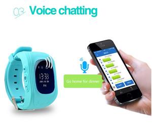 2018 Prezzo di fabbrica Migliore qualità GPS Tracker di emergenza Sicurezza Bambini Bambini Smart Watch Q50 con chiamata SOS