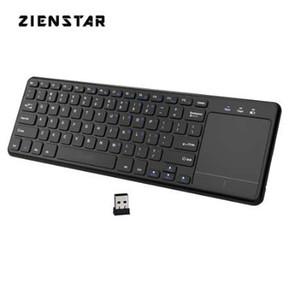 Zienstar 2.4 Ghz Touchpad Teclado Sem Fio para PC com Windows, laptop, ios pad, TV inteligente, HTPC IPTV, Android Box