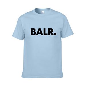 Sıcak Satış Yaz Kadın Erkek Tasarımcı T Shirt BALR Sokak Gelgit Marka Kısa kollu Yuvarlak Boyun Gevşek Kısa kollu Pamuk Blend Mens Tshirt
