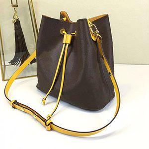 2019 Designer Berühmte Handtaschen NEONOE Umhängetaschen Noé Leder Beuteltasche Frauen Blumendruck Umhängetasche Handtasche TWIST