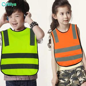 Crianças de Alta Visibilidade Woking Colete de Segurança 5 Cores de Tráfego Rodoviário Colete de Trabalho Verde Reflexivo Roupas de Segurança Para Crianças Estudantes