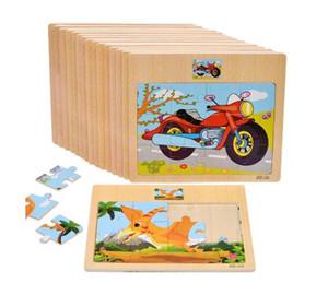 الطفل خشبية اللغز المرور والحيوانات لغز التعليمية لعبة تدريب الطفل لعبة بانوراما الاطفال لعبة الهدايا