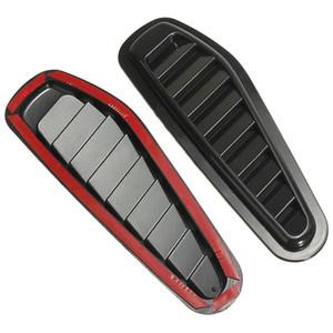 2 pcs en plastique ABS flux de voiture prise d'air hotte Scoop Turbo Bonnet couvercle de couverture Fender autocollants noir voiture style décoratif