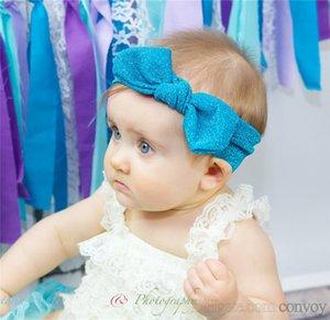 Niñas bebés conejito cintas para la cabeza Niños Bowknot Brillantes Bandas Niñas Arco Brillante headwear headwrap Niños Accesorios para el cabello Hairbands KHA550