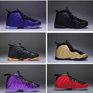 Diseñador de zapatos de los niños baratas del baloncesto Una Penny Hardaway Zapatos niños Tenis ESPUMA berenjena deporte del baloncesto de las zapatillas de deporte al aire libre del zapato atlético