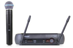 Spedizione gratuita !! Sistema microfono wireless professionale UHF PGX24 / BETA58 PGX14 PGX4 PGX2 MIC per palcoscenico senza custodia! Scatola normale LFA