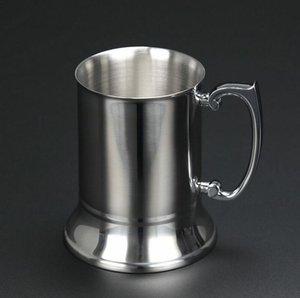 2018 Bar Tankard bira kupalar paslanmaz çelik 450 ML büyük kapasiteli Çift Duvar bira şarap bardak mutfak parti malzemeleri SN1003