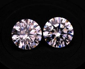 3A Limpar Cubic Zirconia Branca laboratório Criado Diamonds 3.25-5mm solto de pedra para fazer jóias 500psc / Lot