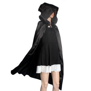 1 STÜCK Kapuzenmantel Mantel Für Frauen Wicca Robe Mittelalterlichen Cape Schal Halloween Party Frauen Vertuschen Schwarz Schal # FY26