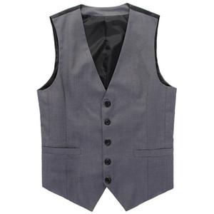 새로운 웨딩 드레스 고품질의 상품면 남성 패션 디자인 정장 조끼 / 그레이 블랙 하이 엔드 남성 비즈니스 캐주얼 정장 조끼 도매