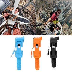 270 Degree Rotation Pocket-size Folding Selfie Stick With Wire Control Button
