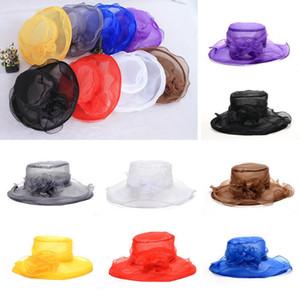 빈티지 여성 교회 켄터키 더비 모자 웨딩 파티 비치 드레스 모자 햇빛 모자