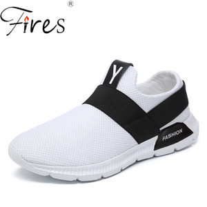Fires Hommes Tendance Chaussures Décontractées Dessus Doux Chaussures Plates Chaussures Noir Blanc Semelles Slip-on Loafer Sneakers 45 46 Grande taille