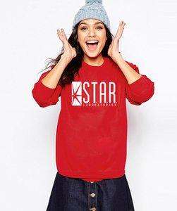 Mode automne drôle américain Drame sweat-shirt flash étoile Laboratoires Femmes BD Star TV Labs Slim Hoodies
