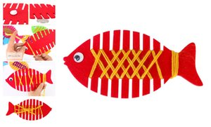 ديي اليدوية غير المنسوجة التفاف الأسماك اللعب المواد الروضة الوسائل التعليمية التعلم المبكر للتربية جديلة لعبة طفل غرفة الديكور كيت