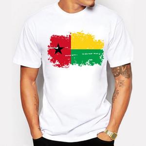 기니 비사우 국기 디자인 인쇄 된 남자 티셔츠 향수 스타일 남자 티셔츠 100 % 코튼 반팔 티셔츠