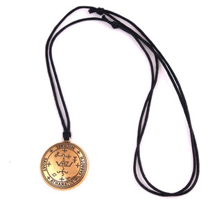Solomon Stil Erzengel MICHAEL Talisman Amulett Engel Gold Farbe Siegel Michael Angelic Anhänger Halskette Schmuck