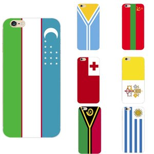 Tonga Transnistriens Tuva Uruguay Usbekistan Vanuatu Vatikanstadt Heilige siehe Nationalflagge Theme TPU Phone Cases für iPhone 6/6 s / 7 / 7s / 8s / X / 11