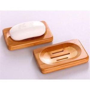 Bad Natürliche Bambus Holz Lagerung Inhaber Bad Duschplatte Seifenschale Bambus Seifenschale fach Freies verschiffen