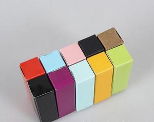 1000pcs / Lot de fête d'anniversaire d'emballage Paquet boîte colorée de papier Kraft Craft cadeau Boîtes d'emballage Rouge à lèvres Paperboard mariage