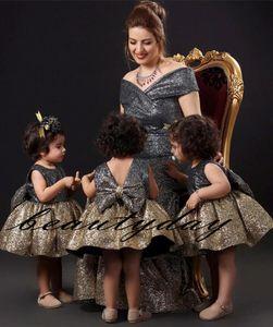 Sparkling Girls Pageant Robes Pour Petites Filles Robes 2019 Toddler Enfants Robe De Bal Glitz Fleur Fille Robe Robe De Mariage Paillettes En Dentelle Couleur Mixte