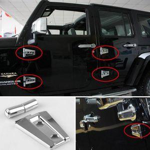 Ajuste de la cubierta de la bisagra de la puerta negra / plateada para Jeep Wrangler JK Unlimited 4Door 2007-2017