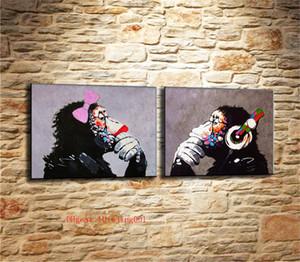 DJ MONKEY, Tuval Adet Ev Dekorasyonu HD Baskılı Modern Sanat Tuval Üzerine Boyama (Çerçevesiz / Çerçeveli)