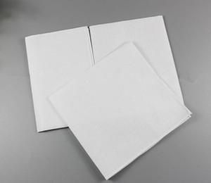 Home Garden Fazzoletto bianco, fazzoletto bianco puro asciugamano fazzoletto in cotone a quadretti in puro cotone tinta unita