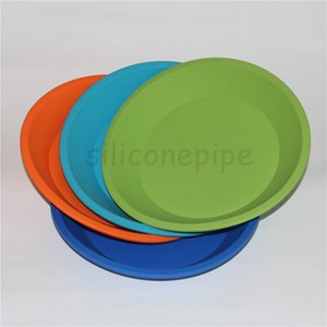 """hot colorful circular silicone tray Deep Dish Round Pan 8""""X8"""" Non Stick Silicone Containers Concentrate Oil BHO fda silicone tray free dhl"""