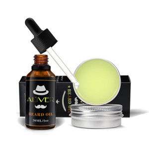 ALIVER Natural Organic Beard Oil Beard Wax Balm Hair Products Leave-In Conditioner for Soft Moisturize Beard Health Care