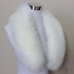 Hot Fashion Unisex Faux Fox Fur Collar Bufanda Chal Cuello Hombres Mujeres Wrap Stole Bufandas Faux Raccoon Fur Collar de Invierno