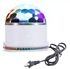 48 LED RGB Stage Sound Actived Auto RGB Mini Rotation Magic Disco Ball Strobe PAR Parti Lumières Pour DJ Spectacle De Danse